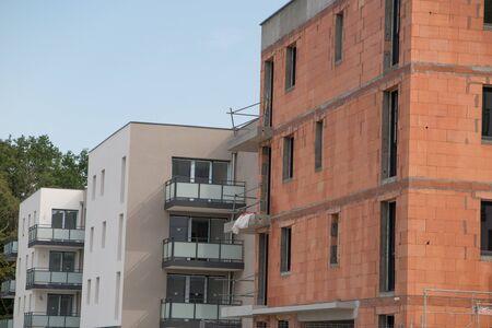 apartment building under construction Zdjęcie Seryjne