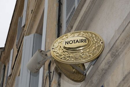notary: notary french building Stock Photo