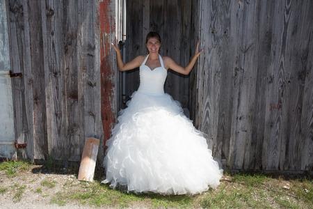 femme mari�e: A married woman bride in her wedding dress