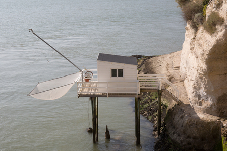 fishing cabin: Fishing house on the french coast on the ocean