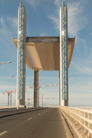 tallest bridge: The Chaban Delmas Bridge in Bordeaux (France), the tallest and longest vertical-lift bridge in Europe