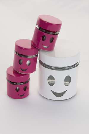 moving box: Smile face illustrated on box. Easy, happy carefree moving concept