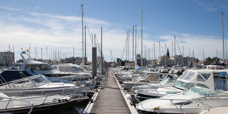 cloude: The yachts parking in an harbour in France