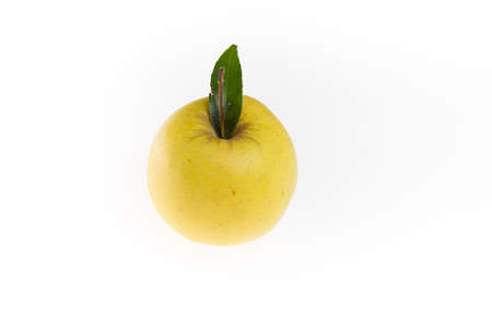 yellow apple: Yellow Apple isolated on a white background Stock Photo