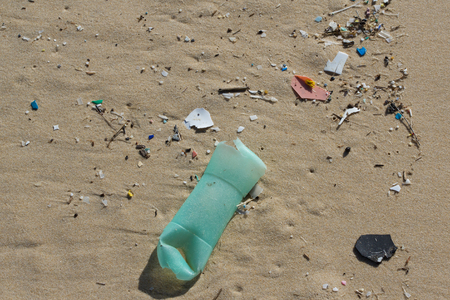 ugliness: The Various garbage on the beach at summertime