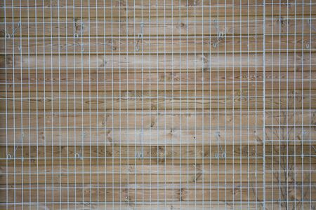 crosswise: wood lattice of crosswise planking with clipping path Stock Photo