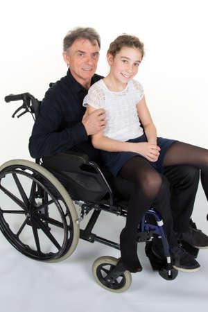 wheeling: Smiling family on wheeling flesh