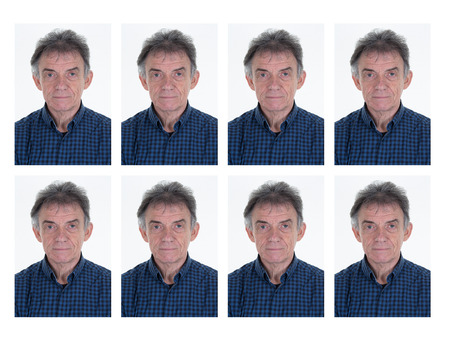 middle aged man: Identification photo of a man for passport, identity card Stock Photo