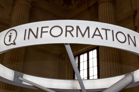 inform information: Information sign writting and icon . Info speech bubble symbol. Stock Photo