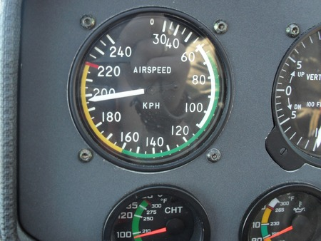 piloting: Piloting navigation in airplane - attitude direction indicator. Attitude Indicator - control panel in the cockpit military jet.