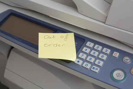 Copy machine out of order post design over it Reklamní fotografie