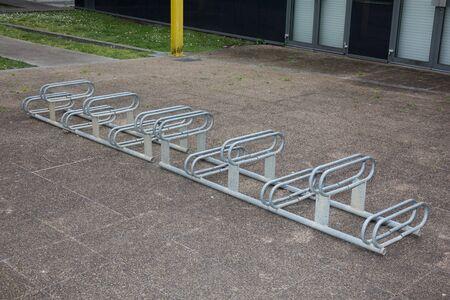 original bike: Modern bike storage in the form of a steel spiral