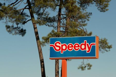 midas: PESSAC, FRANCE - FEBRUARY 10, 2016:     Speedy brand in PESSAC, France. Speedy is a company for service and quick repair