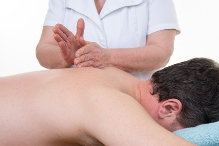 therapeutical: Client relaxing in a massage at the spa Stock Photo