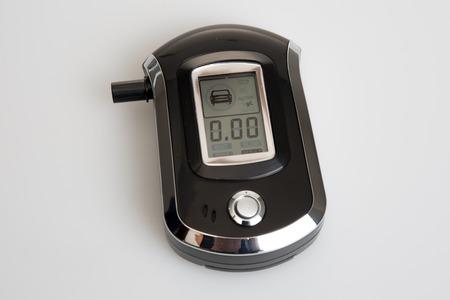 Breathalyzer isolated showing drunkenness, testing alcoholism