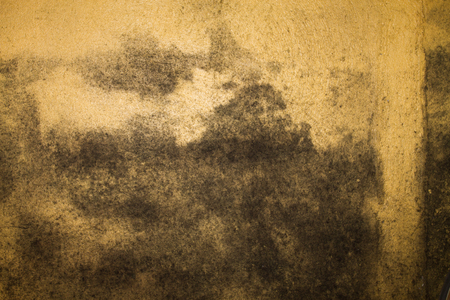 Worn, textured background in yellow and brown Stock Photo