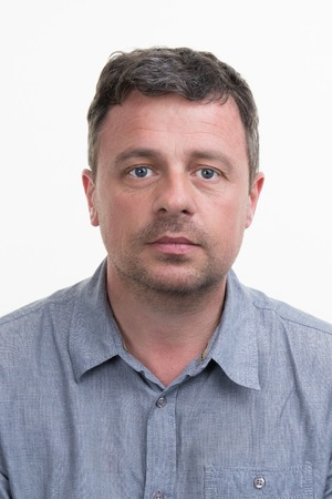 40 year old man: Elegant man blue eyed on white background