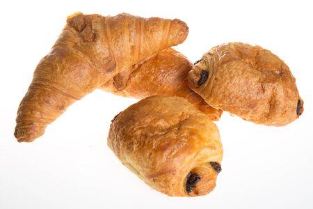 chocolaty: French bakery products isolated on white background