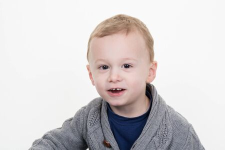 three years old: Picture of smiling little boy of three years old