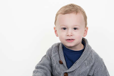 three years old: Portrait of confident little boy of three years old