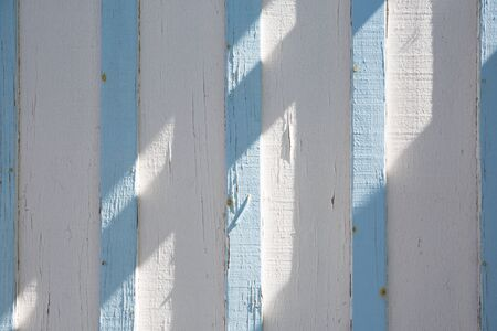 endless: Endless light blue and white striped fabric - wood