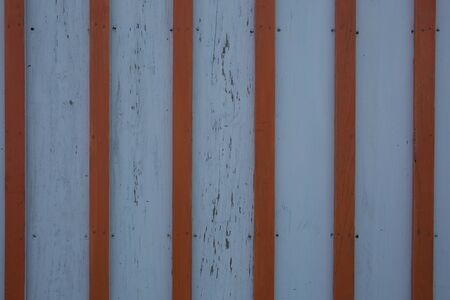 pannel: aged pannel blue wood background with red stripes Stock Photo