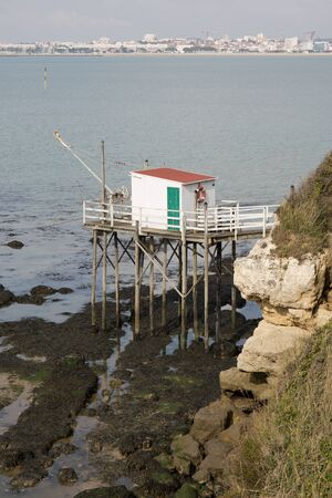 wooden hut: Traditional fishermans wooden hut on sea