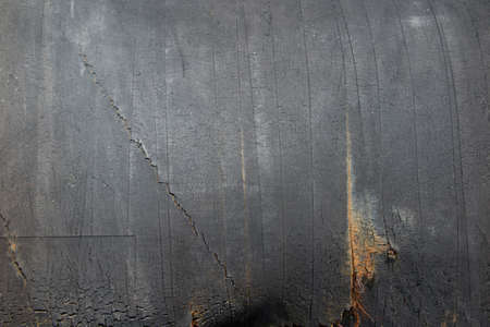 grooved: Metal plate with rusty corrugated iron metal texture Stock Photo