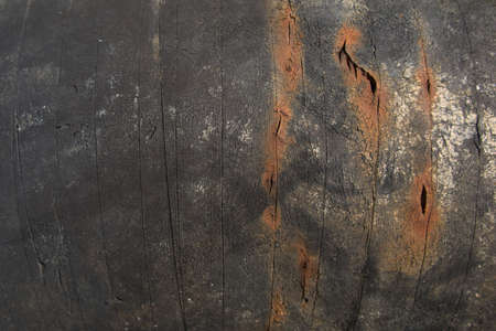 corrugated iron: Metal plate with rusty corrugated iron metal texture Stock Photo