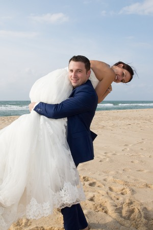 trash the dress: Lovely sharing romantic and fun moment at beach
