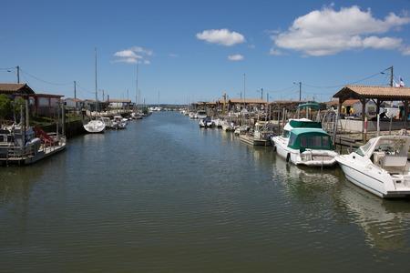 vacancy: harbor of small coastal village in France Stock Photo
