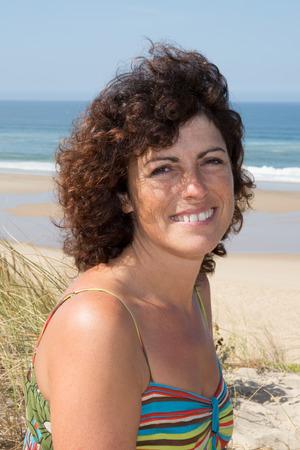 pretty woman in holidays beach