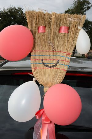 convoy: The broomstick car during a party or a wedding