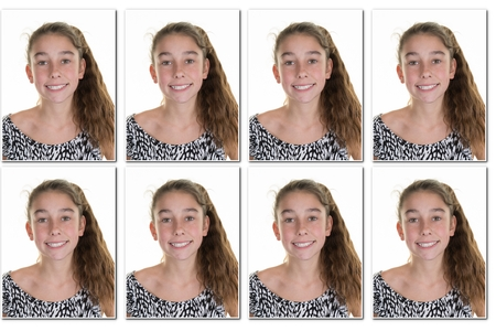 Identiteit meisje foto Obtenir nodig om paspoort Stockfoto