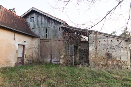 old classic house farm in the south of France in the country