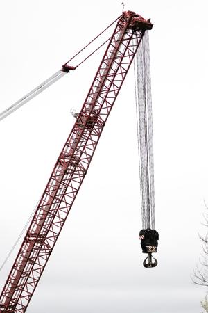 power giant: Detail of a giant crane Stock Photo