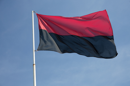 nationalists: Red and black flag of Ukrainian nationalists in Ukraine a Political Flags the Congress of Ukrainian Nationalism