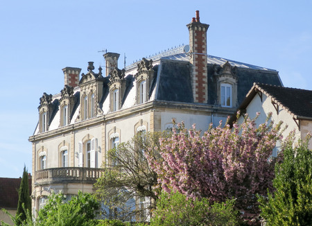 View of a beautiful castle property in Perigord in France