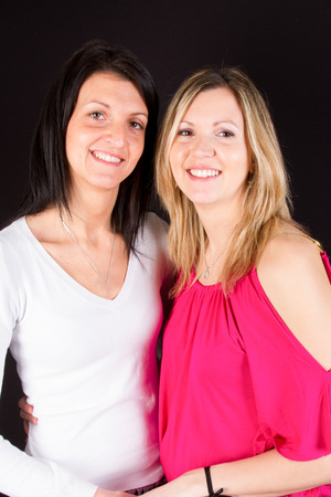 Lesbian Couple Together indoors Concept Stock Photo
