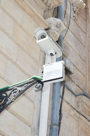 CCTV camera on the road for detecting offenses and secure driving safety.
