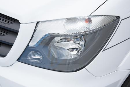 high tech: headlight of modern prestigious van suv close up of car Stock Photo