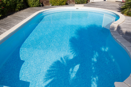 Swimming pool in the house Stock Photo
