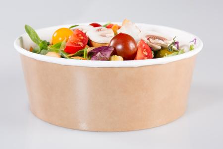 Take away salad box ready to eat for vegetarian