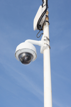 rotating camera set up on the street to monitor infractions