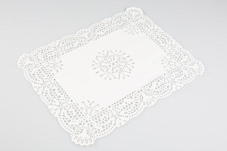 a paper placemat to put cakes at a party Banque d'images