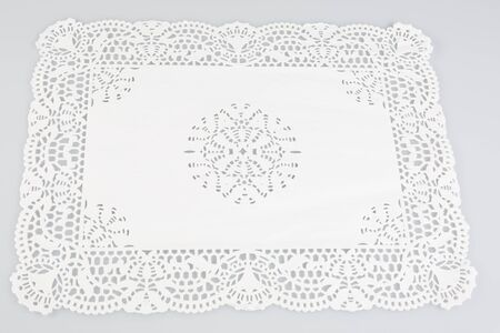 a paper doily to slip pastries into a dish