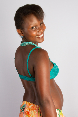 Pregnant African American Woman