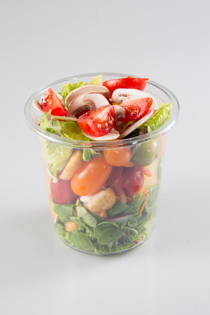 Plastic transparent glass fresh containers
