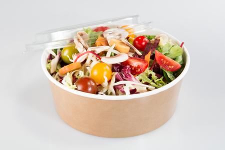 big carton box for food in takeaway salad restaurant