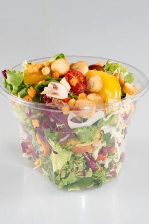 Salad in takeaway container